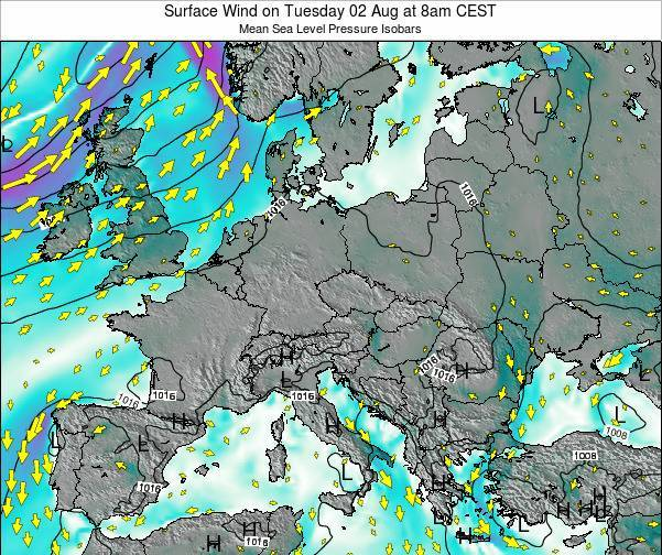 Croatia Surface Wind on Monday 27 May at 8am CEST