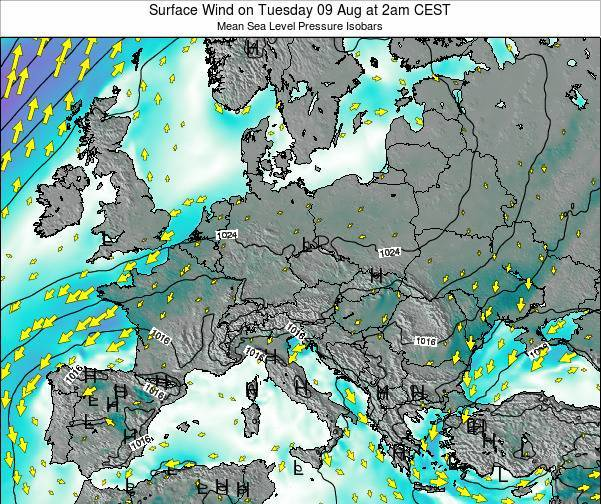 Croatia Surface Wind on Thursday 30 Oct at 8pm CEST