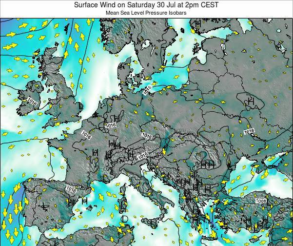 Croatia Surface Wind on Thursday 31 Jul at 8am CEST
