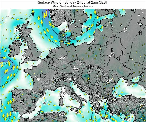 Croatia Surface Wind on Tuesday 18 Mar at 7am CET