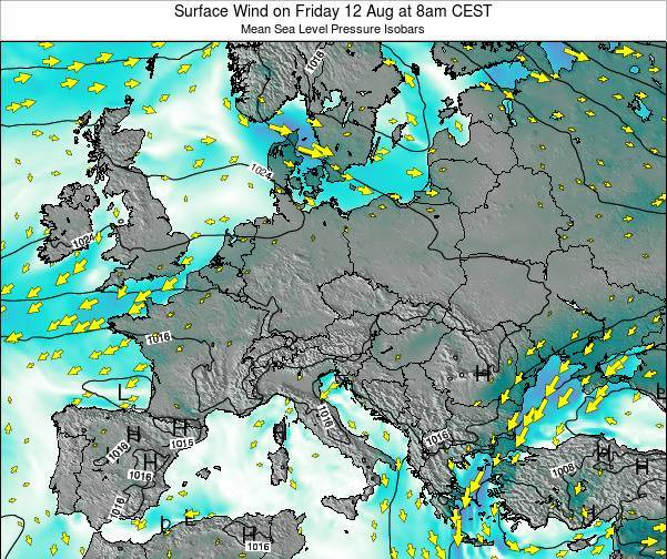 Kosovo Surface Wind on Monday 27 May at 8pm CEST map