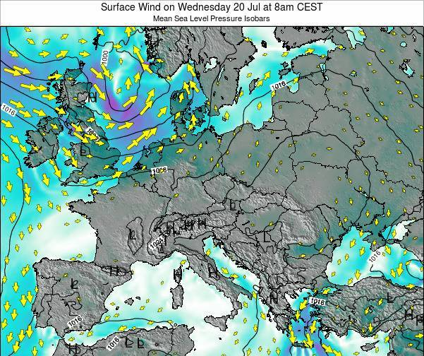 Croatia Surface Wind on Saturday 01 Jun at 2am CEST