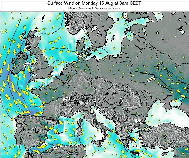 Croatia Surface Wind on Thursday 01 May at 8am CEST