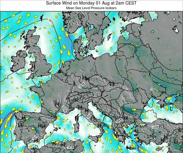 Kosovo Surface Wind on Saturday 25 May at 8pm CEST map