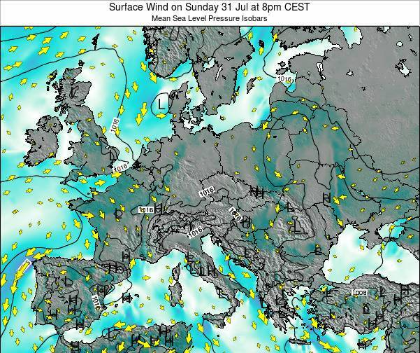 Croatia Surface Wind on Saturday 25 May at 2am CEST
