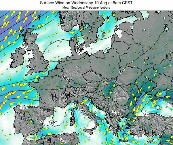 Croatia Surface Wind on Friday 18 Apr at 8pm CEST