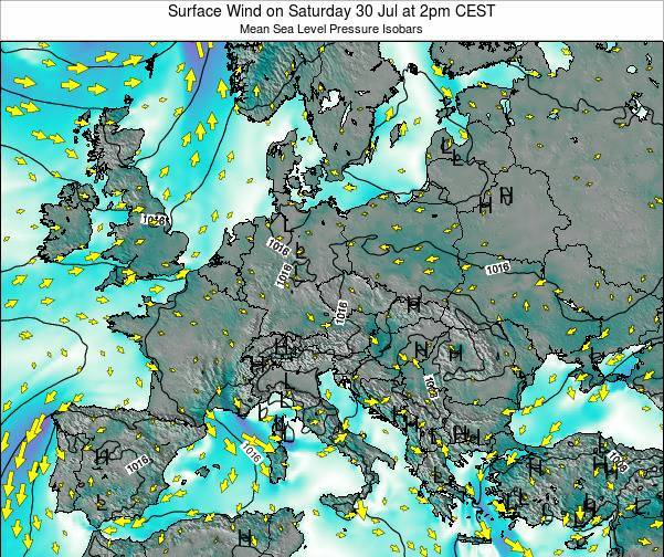 Croatia Surface Wind on Saturday 26 Apr at 2am CEST