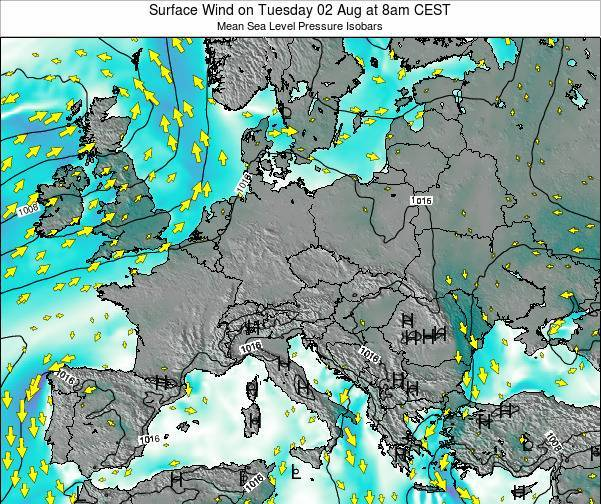 Kosovo Surface Wind on Wednesday 22 May at 8am CEST map
