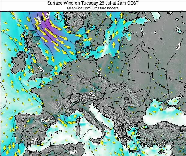 Kosovo Surface Wind on Tuesday 28 May at 8am CEST map