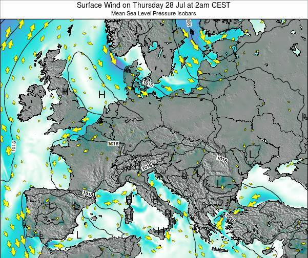 Croatia Surface Wind on Monday 21 Apr at 8pm CEST