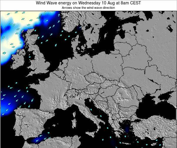Austria Wind Wave energy on Tuesday 28 May at 8am CEST