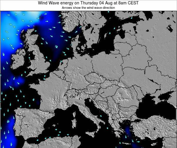 Austria Wind Wave energy on Wednesday 29 May at 8am CEST