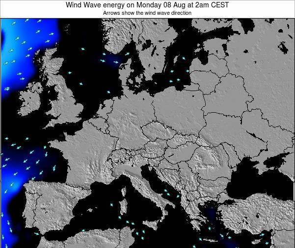 Austria Wind Wave energy on Thursday 20 Jun at 8am CEST