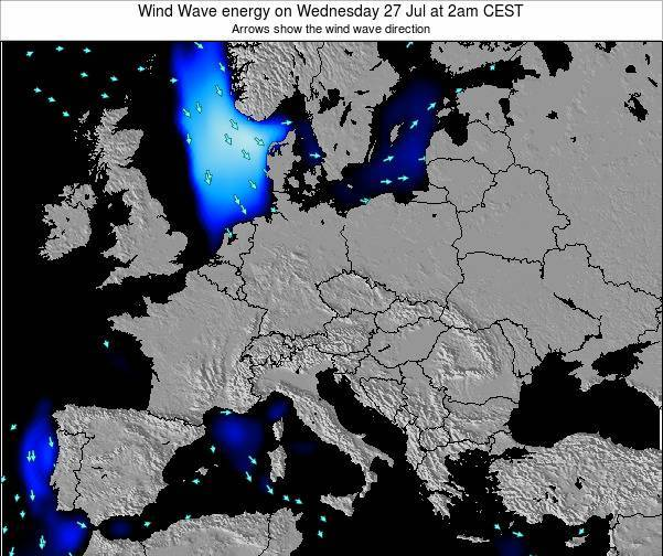 Austria Wind Wave energy on Thursday 23 May at 8am CEST