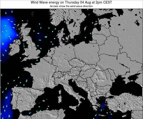 Austria Wind Wave energy on Wednesday 22 May at 2am CEST