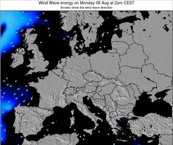 Austria Wind Wave energy on Monday 27 May at 2am CEST