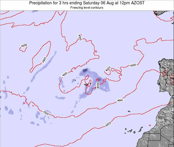 Azores Portugal Precipitation for 3 hrs ending Sunday 26 May at 12am AZOST