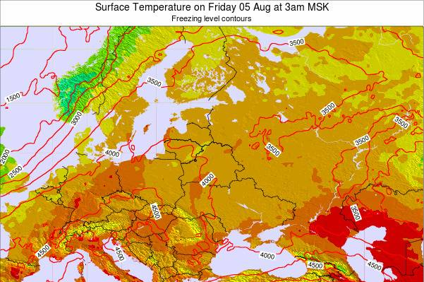 Lithuania Surface Temperature on Saturday 04 Oct at 9am FET