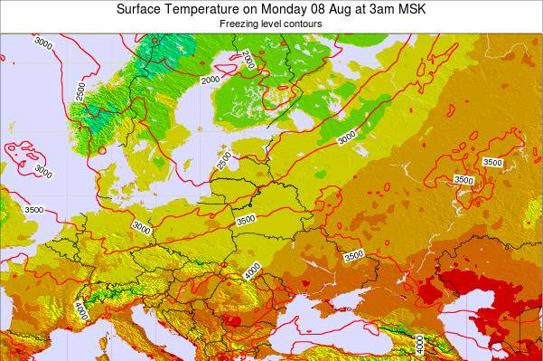 Lithuania Surface Temperature on Tuesday 11 Mar at 9am FET