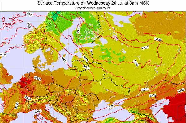 Lithuania Surface Temperature on Friday 25 Apr at 9pm FET