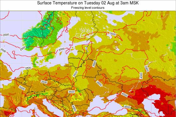 Lithuania Surface Temperature on Friday 18 Apr at 9pm FET