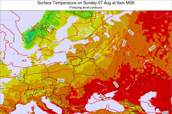 Lithuania Surface Temperature on Thursday 13 Mar at 9am FET