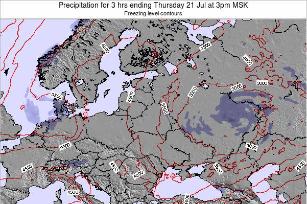 Latvia Precipitation for 3 hrs ending Tuesday 28 May at 3am FET