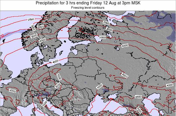 Estonia Precipitation for 3 hrs ending Friday 24 May at 9am FET