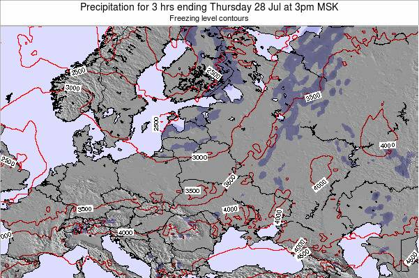Lithuania Precipitation for 3 hrs ending Thursday 23 May at 9am FET