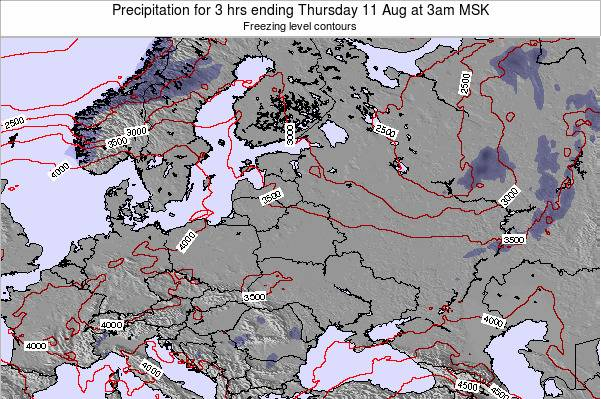 Estonia Precipitation for 3 hrs ending Monday 24 Jun at 9am FET