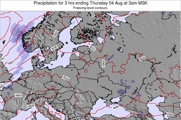 Estonia Precipitation for 3 hrs ending Tuesday 05 Aug at 9am FET