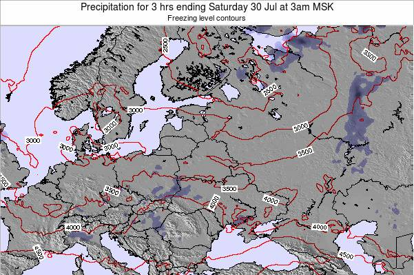 Latvia Precipitation for 3 hrs ending Friday 04 Dec at 3pm MSK