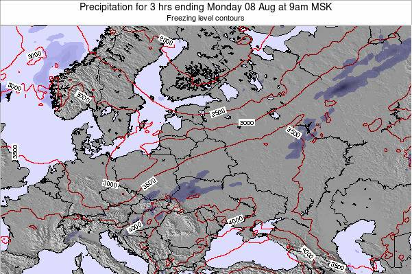 Belarus Precipitation for 3 hrs ending Wednesday 29 May at 3am FET map