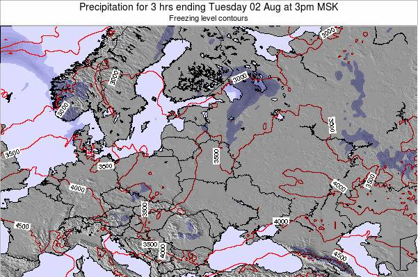 Estonia Precipitation for 3 hrs ending Wednesday 29 May at 9am FET