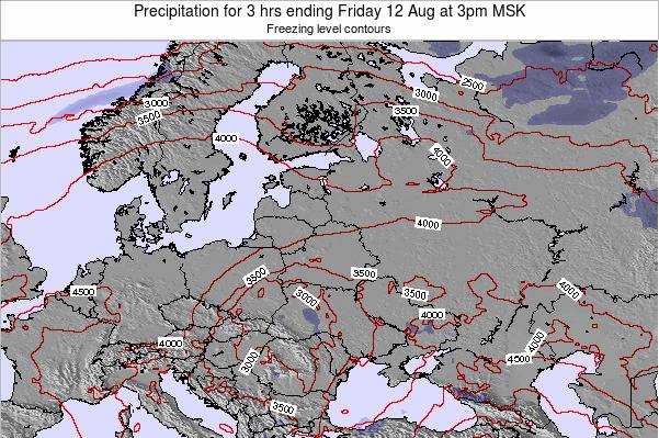 Latvia Precipitation for 3 hrs ending Sunday 05 Jun at 9am MSK