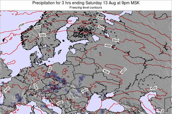 Estonia Precipitation for 3 hrs ending Thursday 24 Apr at 3pm FET