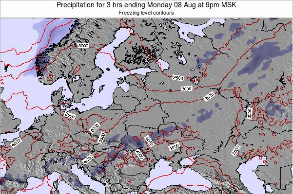 Latvia Precipitation for 3 hrs ending Tuesday 19 Dec at 3am MSK map