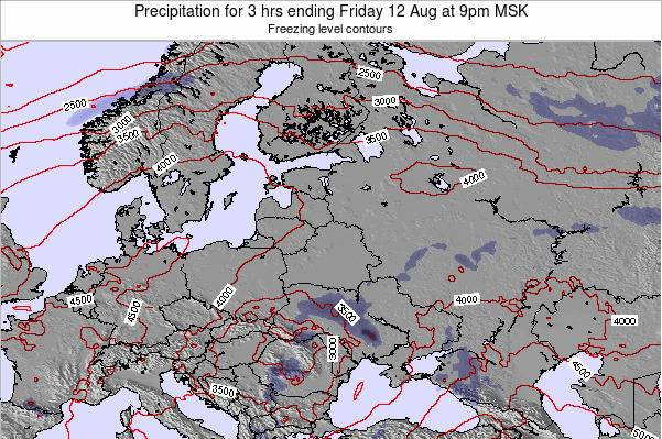 Latvia Precipitation for 3 hrs ending Tuesday 28 May at 9pm FET