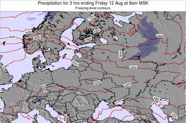 Latvia Precipitation for 3 hrs ending Sunday 03 Jul at 3pm MSK