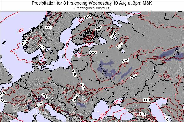 Latvia Precipitation for 3 hrs ending Wednesday 29 May at 9pm FET