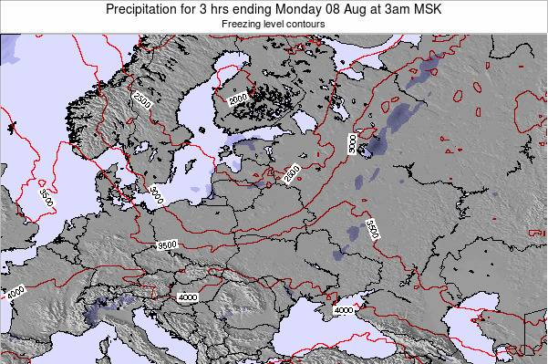 Lithuania Precipitation for 3 hrs ending Saturday 01 Jun at 3am FET