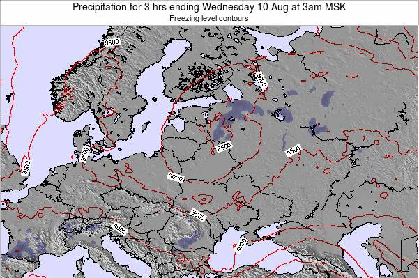 Estonia Precipitation for 3 hrs ending Monday 24 Jun at 3pm FET