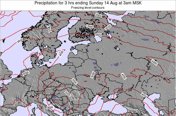 Latvia Precipitation for 3 hrs ending Tuesday 28 May at 3pm FET
