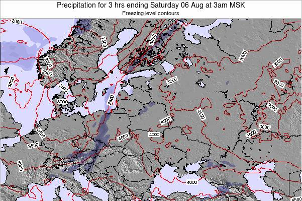 Belarus Precipitation for 3 hrs ending Tuesday 28 May at 9pm FET map