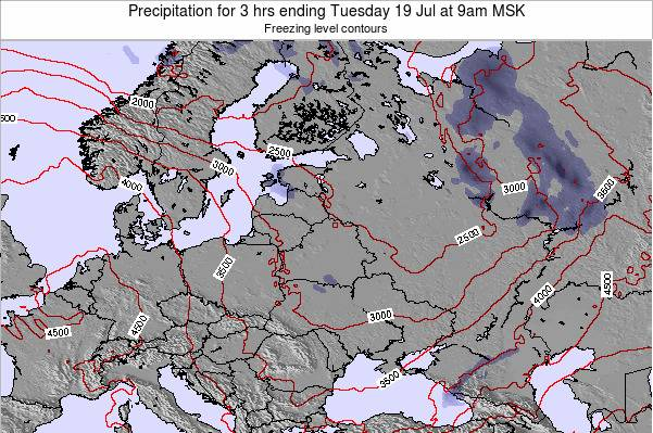 Latvia Precipitation for 3 hrs ending Wednesday 30 Jul at 9am FET