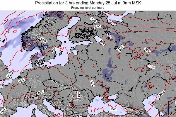 Latvia Precipitation for 3 hrs ending Thursday 20 Jun at 3pm FET