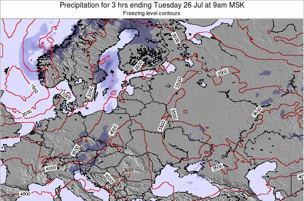 Estonia Precipitation for 3 hrs ending Thursday 18 Sep at 3am FET