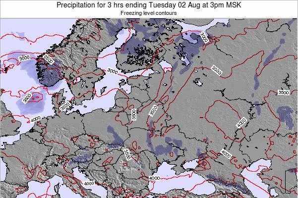 Estonia Precipitation for 3 hrs ending Saturday 25 May at 3am FET