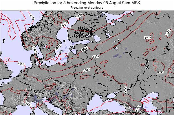 Latvia Precipitation for 3 hrs ending Friday 13 Dec at 3pm FET