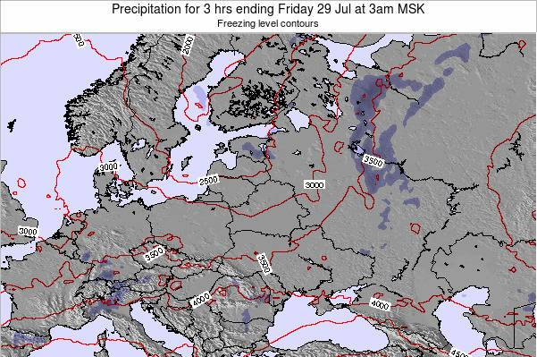 Estonia Precipitation for 3 hrs ending Tuesday 24 Jan at 3am MSK